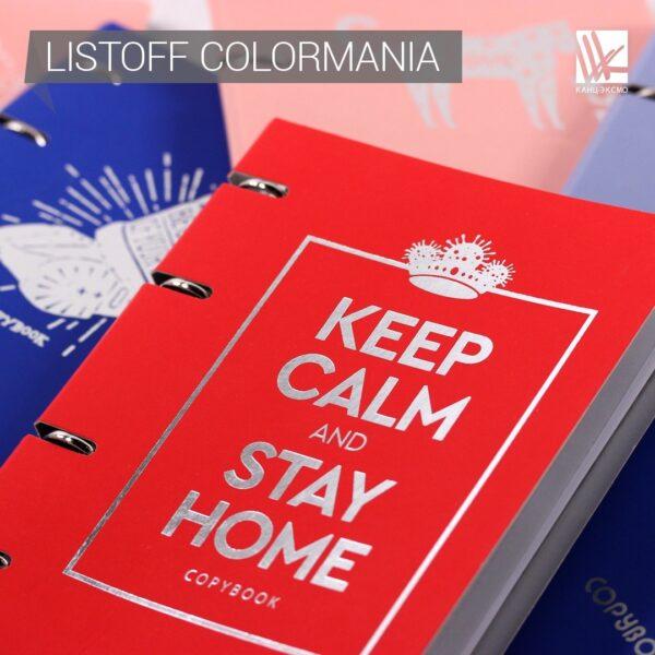 Тетрадь на кольцах Listoff «Keep calm and stay home»